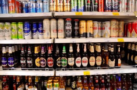 Karges Angebot - nur Alkohol gibts reichlich