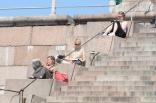 Helsinki: Mittagspause am Dom