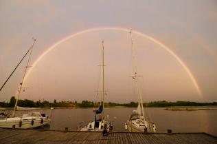 der perfekte Regenbogen über unseren Schiffen!