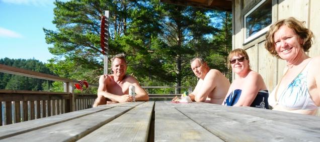 Zwischenbier nach einem Saunagang