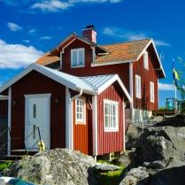Mit schönen Sommerhäusern