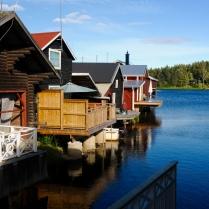 Alte Fischerhäuser zu Ferienhäusern umgebaut
