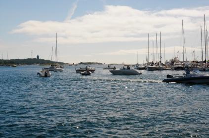 Sandhamn - die Raubtiere lauern auf einen Liegeplatz.