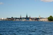 Stockholm macht ein schönes Bild vom Wasser aus
