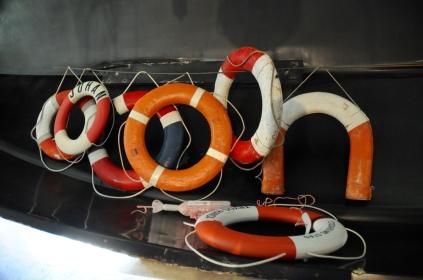 In einer kleinen privaten Bootshalle im Wasa-Hamn