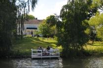 Göta-Kanal: Herrensitz mit Herrenrunde
