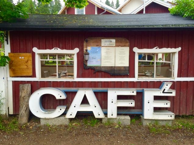 Das Café hat noch geschlossen
