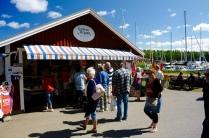 Spiken - Fischbuden und viele Touristen