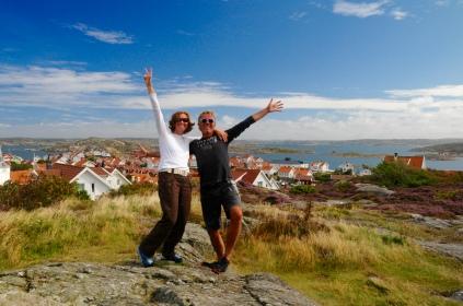 Wir freuen uns über blauen Himmel!