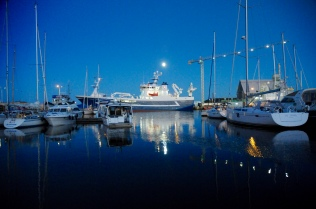 Skagen Harbour Abendstimmung