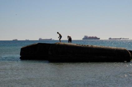 Skagen - klettern auf Bunkerresten