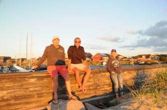 Laesö - Pär, Andi, Annsofie und Abendsonne