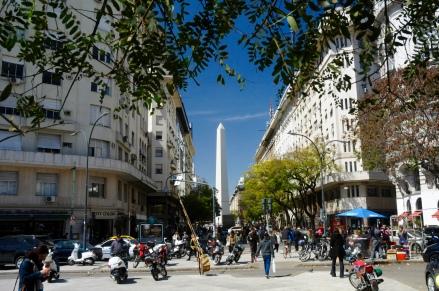 Den Obelisken sieht man immer wieder