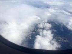 Sao Paulo durch die Wolken