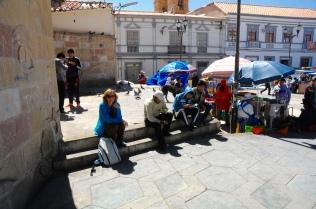 Moni auf dem Marktplatz