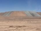 Abraumhalden der riesigen Kupferminen