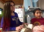Jasmin und Alma, die kleinen.