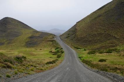 Patagonien: grüne Hügel wechseln...