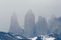 Das sind sie, die drei Torres. Namensgeber des Parks.