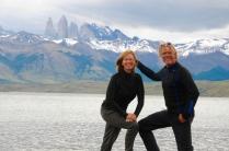 Torres del Paine - Laguna Azul , die Torres und wir