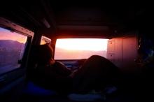 Wir werden morgens von der Sonne geweckt