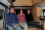 Peter und Annika bei uns im Bus