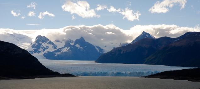 Perito Moreno aus der Ferne