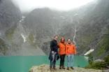 ...erreichen wir den Gletschersee.