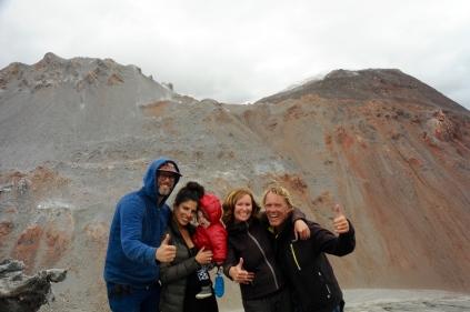 Vulkan Chaiten - wir sind oben, zusammen mit Jason und seiner Familie aus Brooklyn!