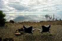 ...und finden einen tollen Platz am See.