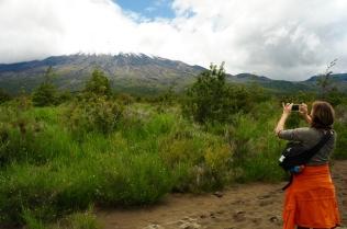 Der Vulkan Osorno...
