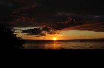 Einer der ungezählten tollen Sonnenuntergänge