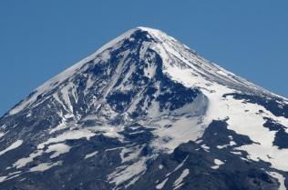 Am Mirador sind wir ganz nahe am Vulkan Lanin