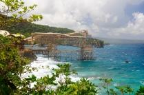 The Phosphat-Pier. Von hier wird das auf der Insel gewonnene Phosphat verladen.