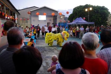 Lion Dance zum chinesischen Neujahrsfest