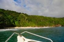 Herrliche Blicke auf die Insel vom Wasser aus.
