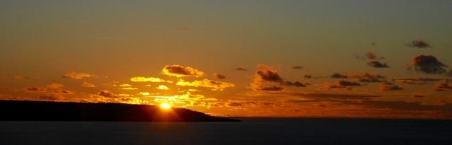 Und wieder ein wunderbarer Sonnenuntergang.