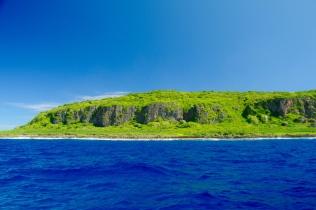 Die Insel ist sehr unzugänglich.