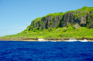 In der Mitte des Fotos ist Amy Beach zu sehen. Brandon hat diesen Strand entdeckt und ihn nach seiner Frau benannt.