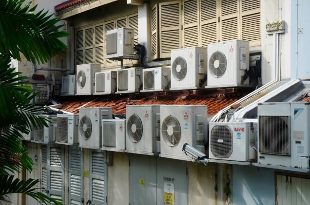 Klimaanlagen - ohne die geht hier nix.
