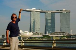 Das Marina Bay Sands Hotel...