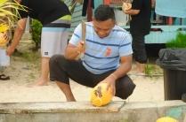 Kokosnüsse an jeder Ecke