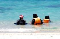 Schwimmen mit Schwimmweste
