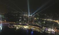 1-Altitude Bar - die Laserlightshow von oben gesehen
