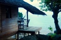 Hütten mit Meerblick (hier: Mira Beach) sind einfach die schönsten!