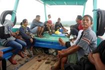 Schaukelige, aber entspannte 20-minütige Bootsfahrt nach Gili Meno.