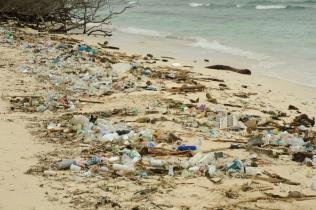 Viel Plastik wird nach den starken Regenfällen angespült.